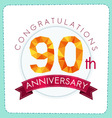 colorful polygonal anniversary logo 3 090 vector image vector image