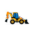 construction machinery tractor excavator loader vector image vector image