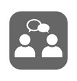 conversation icon isolated vector image vector image