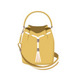 cute mode handbag isolated on white background vector image vector image