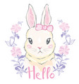 cute rabbit vector image vector image