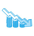 decreasing arrow business vector image vector image