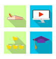 design of education and learning sign set vector image