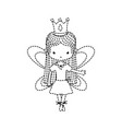 dotted shape girl dancing ballet with straight vector image