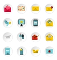 Email icons icons set flat style vector image vector image