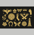 esoteric magic and witch design elements vector image