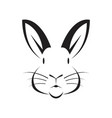 face rabbit vector image vector image