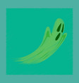 flat shading style icon ghost vector image vector image