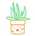 flower aloe linear style vector image vector image