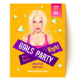 flyer for girls party vector image vector image
