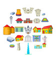 formation icons set cartoon style vector image vector image