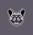 french bulldog head mascot design bulldog vector image vector image