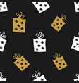 gift seamless pattern hand drawn boxes vector image