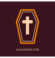 Halloween Coffin silhouette icon vector image vector image