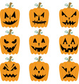 Halloween Pumpkins collections vector image vector image