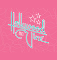 hollywood and vine retro design with stars vector image