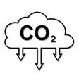 icon carbon dioxide emissions co2 cloud vector image