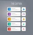 icon leader set of learning handshake manager vector image vector image