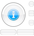 Info white button vector image vector image