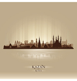 Kazan Russia skyline city silhouette vector image vector image