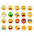 large set of smiles emoticons and emojis in vector image