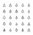 mini icon set christmas tree icon vector image vector image