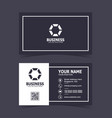 modern elegant business card print template vector image vector image