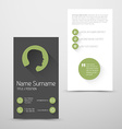 Modern green business card template with flat user vector image vector image