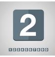 Number set flat design vector image vector image