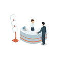 office reception hall isometric 3d element vector image vector image