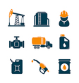 Oil industry gasoline processing icons vector image vector image