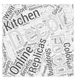 Online Shopping Delights Decorate Your Kitchen or vector image vector image