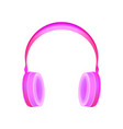 pink hipster style realistic headphones vector image