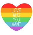 Poster with LGBT support symbol vector image vector image