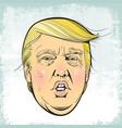 president donald trump vector image