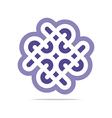 purple connectin element design icon vector image