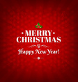 Red Merry Christmas Card vector image vector image