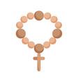 rosary catholic faith mexico icon vector image vector image