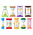sand hourglass set sandglass devices for vector image