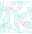 seamless background with bright colorful butterfli vector image vector image