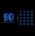 set anniversary logotype premium anniversary vector image vector image