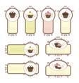 Set of labels with cupcakes vector image vector image