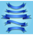 Set ribbon blue vector image vector image