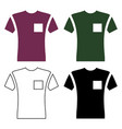 short sleeve pocket t-shirt icon vector image