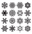 snowflake flat icon set vector image