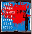 spray font vector image vector image