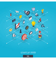 startup integrated 3d web icons growth and vector image vector image