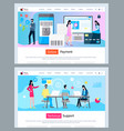 technical support and online payment finances web vector image vector image