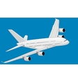 The white plane vector image