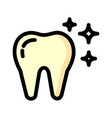 tooth icon isolated on white background from vector image vector image